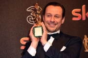 Foto/IPP/Gioia Botteghi 27/03/2017 Roma Premio David di Donatello Red carpet, nella foto: MIGLIOR ATTORE PROTAGONISTA Stefano Accorsi, per Veloce come il vento con la moglie