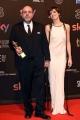 Foto/IPP/Gioia Botteghi 27/03/2017 Roma Premio David di Donatello Red carpet, nella foto:MIGLIOR FILM La pazza gioia, per la regia di Paolo Virzì con la moglie Ramazzotti