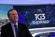 02/02/2017 Roma il nuovo direttore del tg3 Luca Mazzà studio e regia