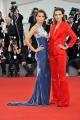 """75th Venice Film Festival 2018, Red carpet film """"Roma"""". Pictured: Giorgia Berti, Greta Berti"""