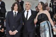 "75th Venice Film Festival 2018, Red carpet film ""Roma"". Pictured: Alfonso Cuarón, Tess Bu Cuarón, Olmo Teodoro Cuaron"