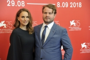 75th Venice Film Festival 2018, Photocall  film Vox Lux . Pictured: Brady Corbet, Natalie Portman