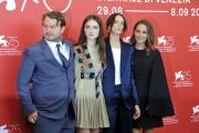 75th Venice Film Festival 2018, Photocall  film Vox Lux . Pictured:  Brady Corbet, Natalie Portman, Raffey Cassidy, Stacy Martin