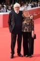 Foto/IPP/Gioia Botteghi Roma 21/10/2018 Roma, Festival del cinema di Roma , red carpet, nella foto: Gigi Proietti con la moglie Sagitta Alter  Italy Photo Press - World Copyright