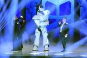 Foto/IPP/Gioia Botteghi 10/03/2018 Roma,  Ballando con le stelle prima puntata, nella foto: Robozao con Paolo Belli e Milly Carlucci  Italy Photo Press - World Copyright