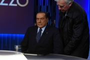 Foto/IPP/Gioia Botteghi 21/02/2018 Roma, Lilli Gruber con ospite Silvio Berlusconi Italy Photo Press - World Copyright