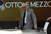 Foto/IPP/Gioia Botteghi 15/02/2018 Roma, puntata di otto e mezzo con Michael Wolff autore del libro scandalo su Trump Italy Photo Press - World Copyright