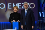 Foto/IPP/Gioia Botteghi15/02/2018 Roma, puntata di otto e mezzo con Lilli Gruber e Paolo Gentiloni Italy Photo Press - World Copyright