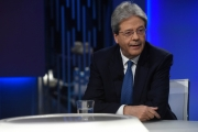 Foto/IPP/Gioia Botteghi15/02/2018 Roma, puntata di otto e mezzo con Paolo Gentiloni Italy Photo Press - World Copyright