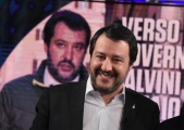 Foto/Gioia Botteghi 27/03/2018 Roma, Matteo Salvini ospite di porta a porta  Italy Photo Press - World Copyright