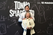 Foto/IPP/Gioia Botteghi 26/04/2018 Roma, Presentazione del film Tonno Spiaggiato, nella foto:  Lucia Guzzardi, Frank Matano  Italy Photo Press - World Copyright