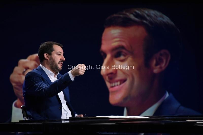 Foto/IPP/Gioia Botteghi Roma09/12/2018 Matteo Salvini ospite della trasmissione di Lucia Annunziata Mezz'ora in piu, rai tre Italy Photo Press - World Copyright