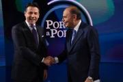 Foto/IPP/Gioia Botteghi Roma08/01/2019 Porta a porta con Giuseppe Conte nella foto con Bruno Vespa Italy Photo Press - World Copyright