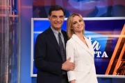 Foto/IPP/Gioia Botteghi Roma 25/03/2019 La vita in diretta, rai uno, i due conduttori Tiberio Timperi e Francesca Fialdini Italy Photo Press - World Copyright