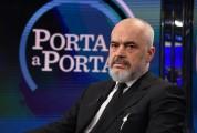 Foto/IPP/Gioia Botteghi Roma04/12/2019 Puntata di Port a aporta , ospite Edi Rama primo ministro albanese Italy Photo Press - World Copyright