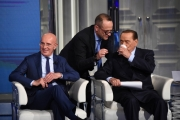 Foto/IPP/Gioia Botteghi Roma 21/05/2019 Puntata elettorale di Porta a porta con Silvio Berlusconi ospite ed Arrigo Sacchi Italy Photo Press - World Copyright