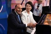 Foto/IPP/Gioia Botteghi Roma 23/05/2019 ospite di Porta a porta  il pianista Lang lang nella foto con Bruno Vespa Italy Photo Press - World Copyright