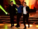 Foto/IPP/Gioia Botteghi Roma 25/05/2019 Ballando con le stelle 2° semifinale, nella foto Ettore Bassi con i due fratelli Italy Photo Press - World Copyright