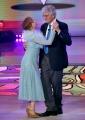 Foto/IPP/Gioia Botteghi Roma 25/05/2019 Ballando con le stelle 2° semifinale, nella foto Milena Vukotic con il marito Italy Photo Press - World Copyright