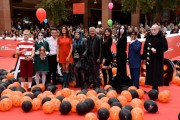 Foto/IPP/Gioia BotteghiRoma 20/10/2019 Festa del cinema di Roma 2019,red carpet del film La famiglia Addams, nella foto le voci Loredana Bertè Pino Insegno, Virginia Raffaele, Luciano Spinelli ed Eleonora GaggeroItaly Photo Press - World Copyright