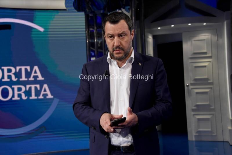 Foto/IPP/Gioia Botteghi Roma 28/01/2020 Porta a porta con ospite Matteo Salvini Italy Photo Press - World Copyright