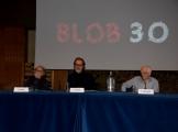 Foto/IPP/Gioia Botteghi Roma12/04/2019 festeggiamento in rai per i 30 anni di Blob di rai3, nella foto Enrico Ghezzi l'ideatore  Angelo Guglielmi, Stefano Coletta Italy Photo Press - World Copyright