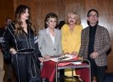 Foto/IPP/Gioia Botteghi Roma12/04/2019 festeggiamento in rai per i 30 anni di Blob di rai3, nella foto Sandra Milo, Franca Leosini, Alba Parietti, Pino Strabioli Italy Photo Press - World Copyright