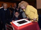 Foto/IPP/Gioia Botteghi Roma12/04/2019 festeggiamento in rai per i 30 anni di Blob di rai3, nella foto Enrico Ghezzi l'ideatore Sandra Milo Italy Photo Press - World Copyright