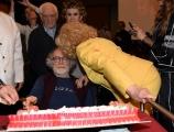 Foto/IPP/Gioia Botteghi Roma12/04/2019 festeggiamento in rai per i 30 anni di Blob di rai3, nella foto Enrico Ghezzi l'ideatore Sandra Milo, Franca Leosini, Angelo Guglielmi Italy Photo Press - World Copyright