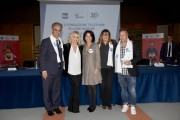 Foto/IPP/Gioia Botteghi Roma11/12/2019 trent'anni di Telethon, nella foto :  Marcello Foa, Antonella Clerici, Francesca Pasinelli,Teresa De Santis, Paolo Belli Italy Photo Press - World Copyright