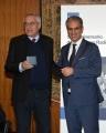 Foto/IPP/Gioia Botteghi Roma21/11/2018  Presentazione 50° anniversario del Concorso Radiotelecronisti Rai, nella foto il presidente della Rai Marcello Foa premia Mario Giobbe Italy Photo Press - World Copyright