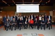 Foto/IPP/Gioia Botteghi Roma21/11/2018  Presentazione 50° anniversario del Concorso Radiotelecronisti Rai, nella foto i premiati i nuovi vincitori del concorso e il presidente della Rai marcello Foa Italy Photo Press - World Copyright