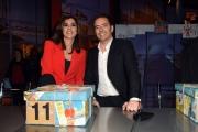 06/01/2017 Roma Flavio Insinna e la lotteria Italia, nella foto ALBERTO MATANO, Cinzia Fiorato