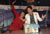 06/01/2017 Roma Flavio Insinna e la lotteria Italia, nella foto Paolo Fox e Angela Brambati