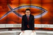 8/06/08 roma saxa rubra rai, il nuovo conduttore della rubrica religiosa in onda la domenica mattina su raiuno_ A sua immagine_ Rosario Carello