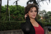 28/05/2014 Roma presentazione della fiction di rai uno A TESTA ALTA, nella scuola ufficiali dei carabinieri, nella foto: Raffaella Rea