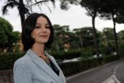 28/05/2014 Roma presentazione della fiction di rai uno A TESTA ALTA, nella scuola ufficiali dei carabinieri, nella foto: Nicole Grimaudo