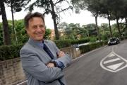 28/05/2014 Roma presentazione della fiction di rai uno A TESTA ALTA, nella scuola ufficiali dei carabinieri, nella foto: Massimo Wertmuller invitato