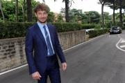 28/05/2014 Roma presentazione della fiction di rai uno A TESTA ALTA, nella scuola ufficiali dei carabinieri, nella foto: Giorgio Pasotti