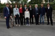 28/05/2014 Roma presentazione della fiction di rai uno A TESTA ALTA, nella scuola ufficiali dei carabinieri, nella foto: il cast più bimbo Filippo Agnelli