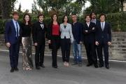 28/05/2014 Roma presentazione della fiction di rai uno A TESTA ALTA, nella scuola ufficiali dei carabinieri, nella foto: il cast