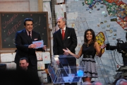 Roma puntata speciale de Affari tuoi- carnevale, nella foto: Serena Rossi notaio Pocaterra, Flavio Insinna