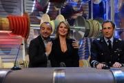 Roma puntata speciale de Affari tuoi- carnevale, nella foto: colonnello Daniele Mocio, Monica Leofreddi, Franco Di Mare