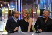 Roma puntata speciale de Affari tuoi- carnevale, nella foto: Dario Vergassola, Manila Nazzaro, Max Paiella