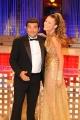 Roma 22/09/2009 trasmissione _Affari tuoi speciale la lotteria_ nella foto Max Giusti e la dea della fortuna Alessandra Cirotto