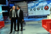 01/03/2013 Roma ad AGORA' il passaggio di conduzione da Andrea Vianello a Gerardo Greco