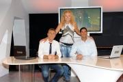 30/09/2012 Roma ALLE FALDE DEL KILIMANGIARO rai tre, nella foto Licia Colò nella postazione interattiva con Giuseppe Pinetti e Mirko Bruni