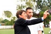 05/05/2016 Roma allenamento de La partita del cuore, nella foto: Gianni Morandi e Briga