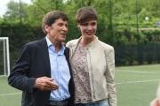 05/05/2016 Roma allenamento de La partita del cuore, nella foto: Gianni Morandi e Roberta Giarrusso