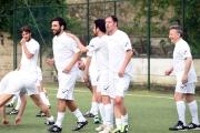 05/05/2016 Roma allenamento de La partita del cuore, nella foto: Edoardo Leo e Serrmonti